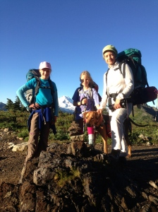 Rene and grils at Yellow Aster Butte